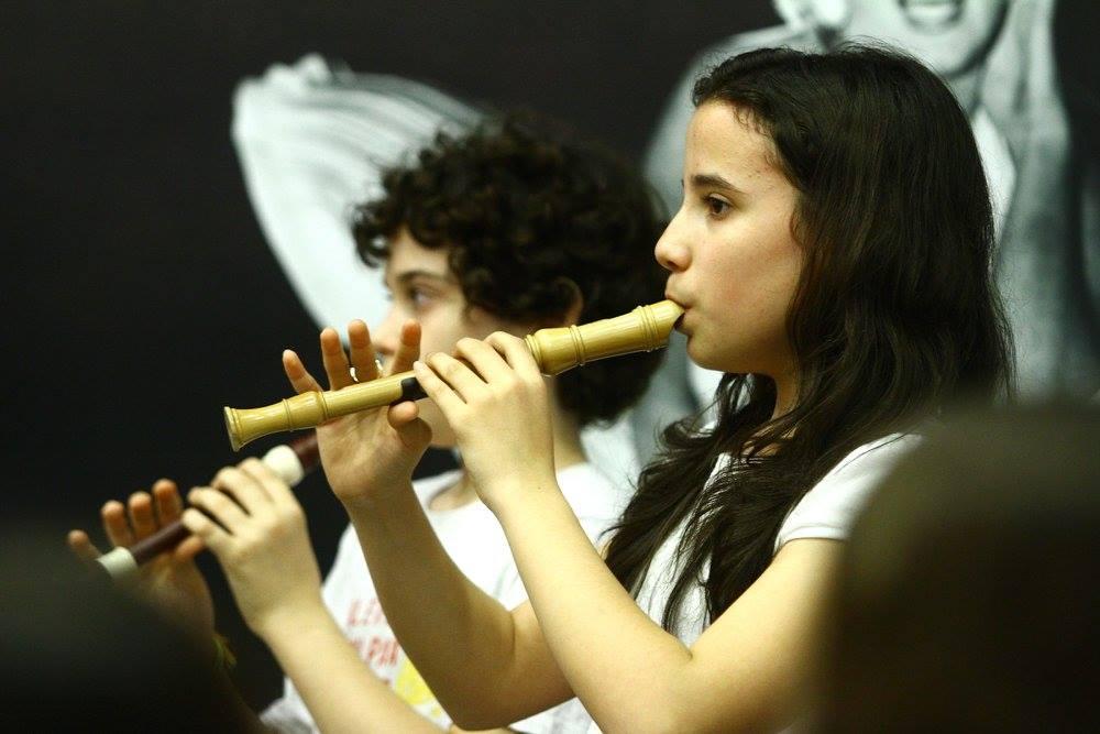 alunos flauta doce festival de Londrina